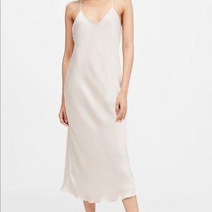 Cream Slip Midi Dress - size 2